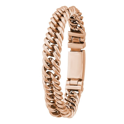 Stahlgliederarmband rotvergoldet__1024143__0