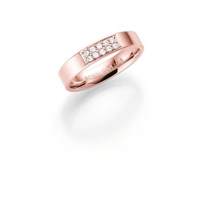 14K rosegouden trouwring diamant Astrantia H188R