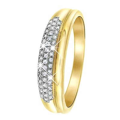 14 Karaat geelgouden ring met diamant__1037601__0