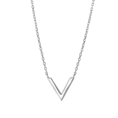 Silberne Halskette rhodiniert V__1042051__0