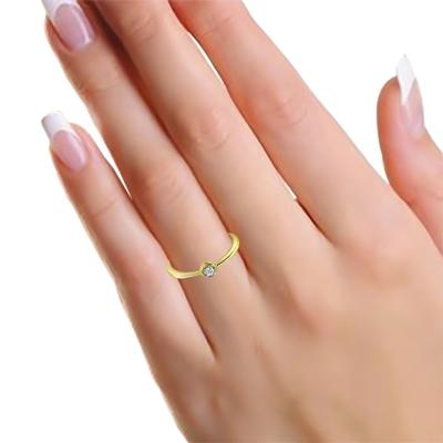 14 Karaat geelgouden ring met diamant__1043115__1