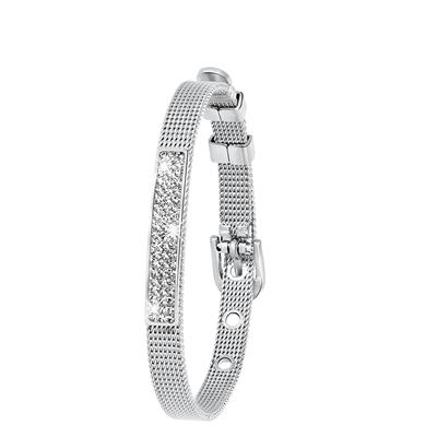 Stalen armband mesh riem met kristal__1043443__0