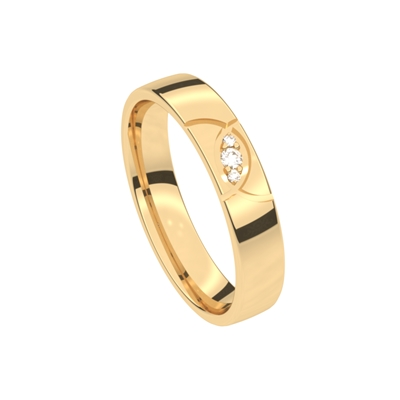 14 K gelbgoldener Diamant-Ehering Rosmarin__1043679__0