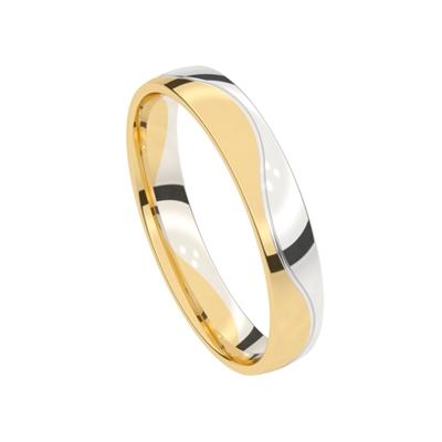 14k bicolor gouden trouwring Dames Mimosa__1021621__1
