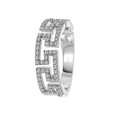 14 Karaat witgouden ring fantasie met diamant__1047323__0