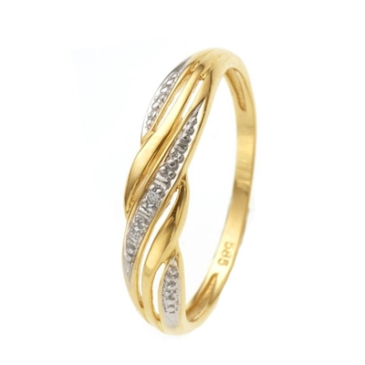 14 Karaat geelgouden ring met diamant__1037783__0