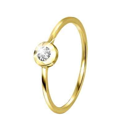 14 Karaat geelgouden ring met diamant__1042048__0