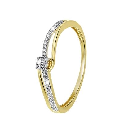 14 Karaat geelgouden ring met diamant__1043131__0