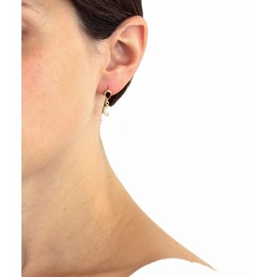 9 Karaat oorhangers druppel met parel__1045215__2