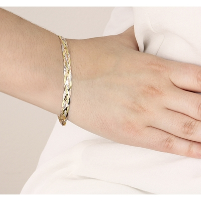 9 Karaat tricolor armband herringbone__1047173__2