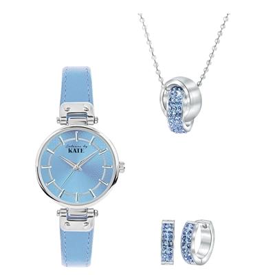 Stalen set met light sapphire kristal__1037577__0