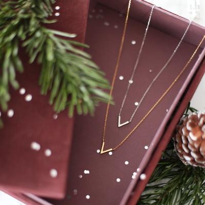Silberne Halskette rhodiniert V__1042051__3