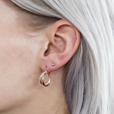 925 Silber Ohrringe Rosé/Silber__1025610__2