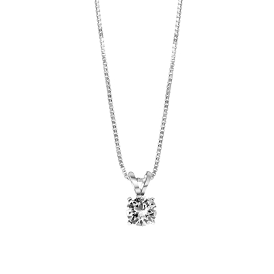 Zilveren ketting Swarovski Crystal white__1048944__0