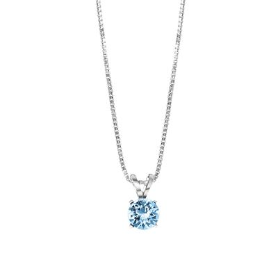Silberne Halskette mit Swarovski Kristall, Aqua__1048949__0
