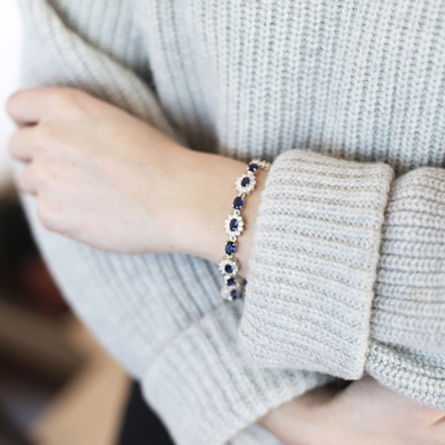 Zilveren armband blauwe zirkonia__1019430__1