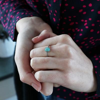 Zilveren ring turquoise Bali__1048770__1