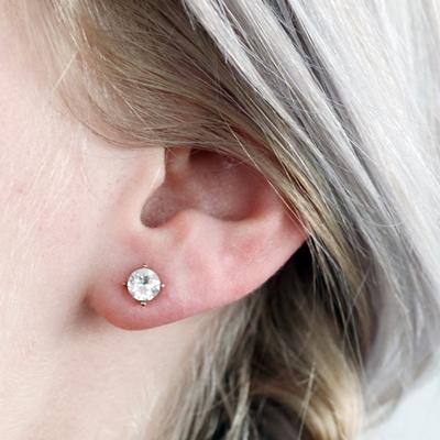 Zilveren oorbellen rose Swarovski Crystal white__1048970__1
