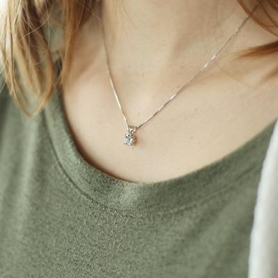 Zilveren ketting Swarovski Crystal white__1048944__1