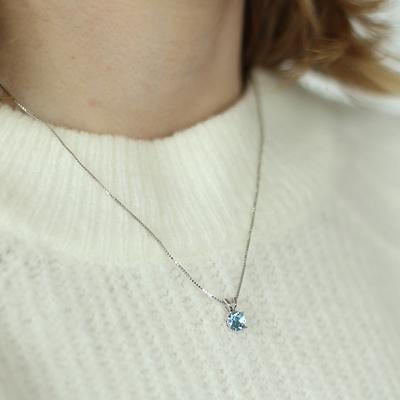 Silberne Halskette mit Swarovski Kristall, Aqua__1048949__1