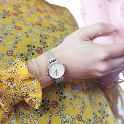 Regal Uhr mit silbernem Mesharmband