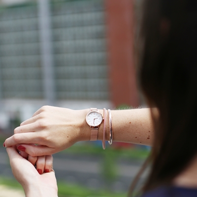 Silbernes Popcorn-Armband, rotvergoldet 3 mm__1041389__1