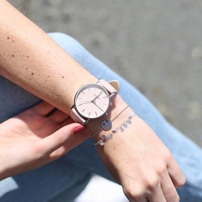 Regal Slimline Armbanduhr mit einem rosa Band