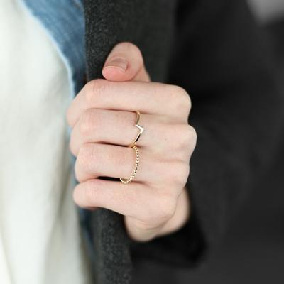 "585 Gelbgold Ring ""Blitz"""