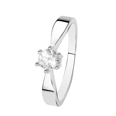 Witgouden  solitair ring met diamant (0,50ct.)__1037205__0