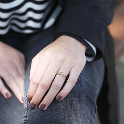 14 Karaat geelgouden ring met diamant__1043146__1