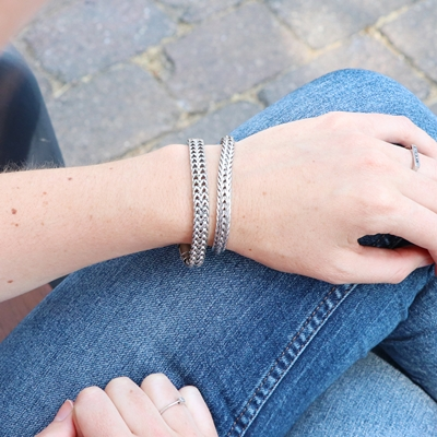 Stalen armband schakel