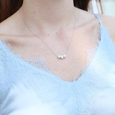 Zilveren ketting&hanger Swarovski Crystal