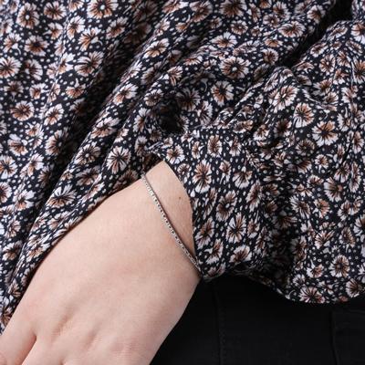 14 Karaat witgouden armband met diamant0,49ct__1047958__1
