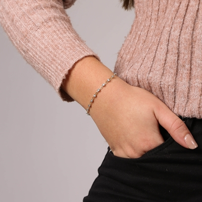 Armband, 585 Gelbgold, mit Diamanten 0,30 ct