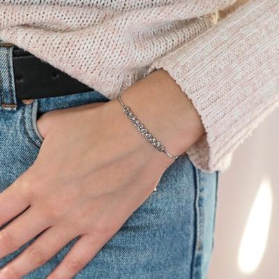 Zilveren armband Swarovski Crystal black diamond