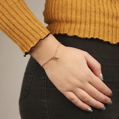 Armband aus vergoldetem 925 Silber, Leopard__1054529__1