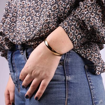 Stalen armband bangle goldplated__1054030__1