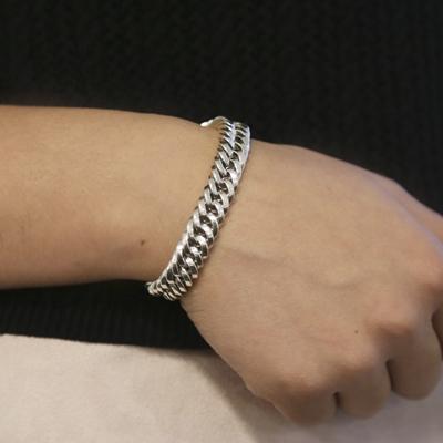 Silberarmband mit Gourmetglied__1054910__1