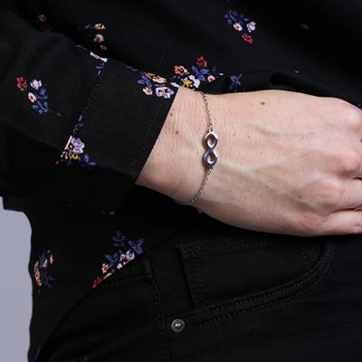 Stalen armband infinity