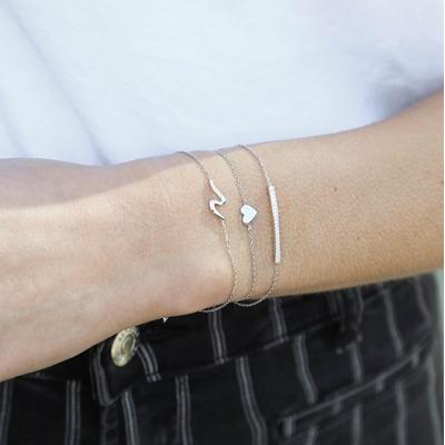 Armband aus 925 Silber, Steg mit Zirkonia