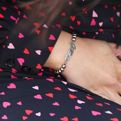 Edelstahl-Armband von Guess mit Guess Logo