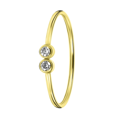Ring, 585 Gelbgold, 2 Zirkonia__1056487__0