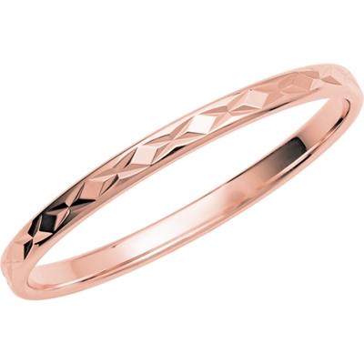 14K rose gouden trouwring Balance dames H233R