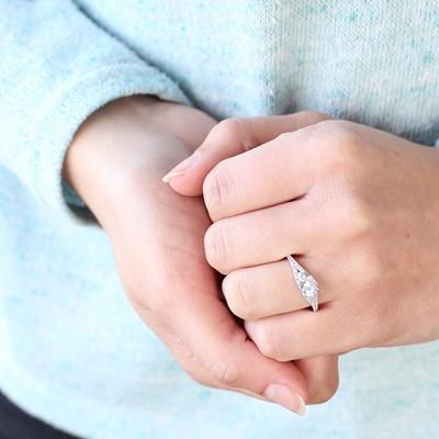 Ring, 925 Silber, mit Zirkonia