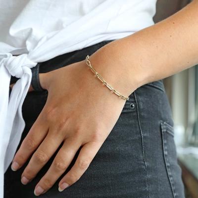 14 Karaat geelgouden armband closed forever