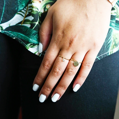 Ring, 585 Gelbgold, runder Anhänger