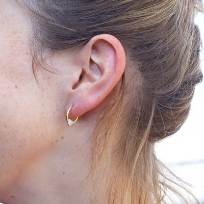 9 Karaat oorbellen ovaal hart kristal
