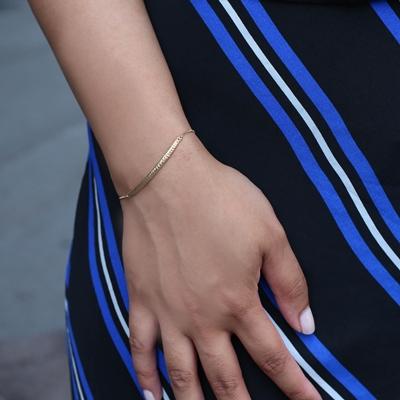 9 Karaat armband fantasie diamond cut
