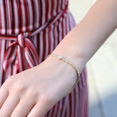 Armband, 585 Gelbgold, mit Diamanten 0,06 ct
