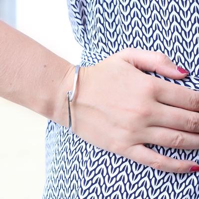 Armband in 925 Silber matt/glänzend Zirkonia